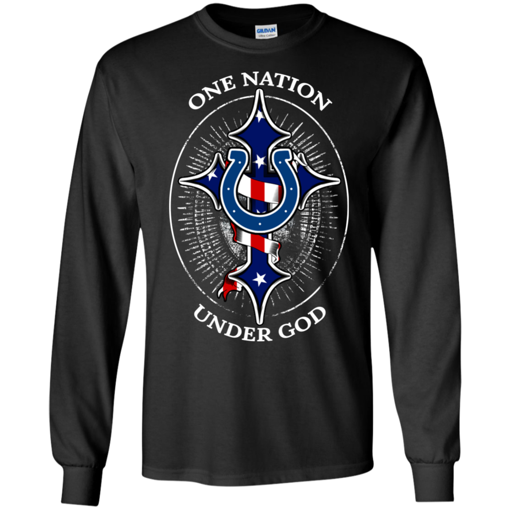 Indianapolis Colts Shirts One Nation Under God Colts Logo T Shirts Hoodies Sweatshirts Indianapolis Colts Shirts O Bills Shirts Hoodie Shirt Sweatshirts Hoodie [ 1024 x 1024 Pixel ]