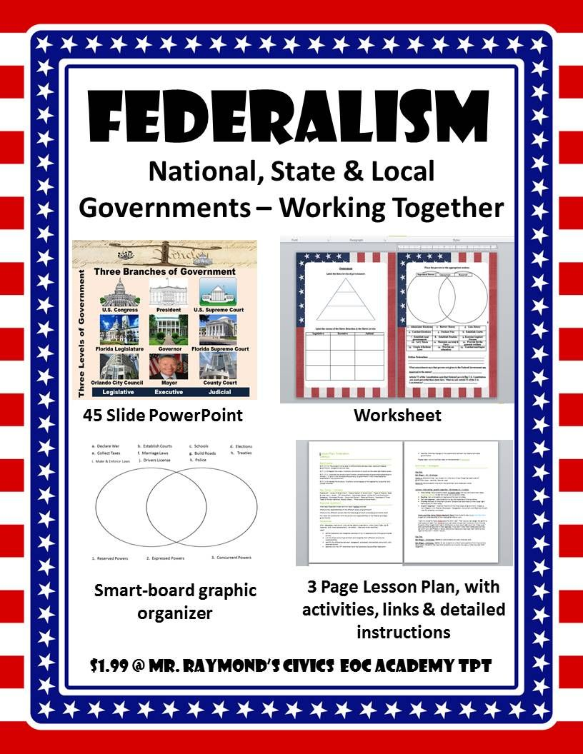 Federalism National State And Local Governments Working