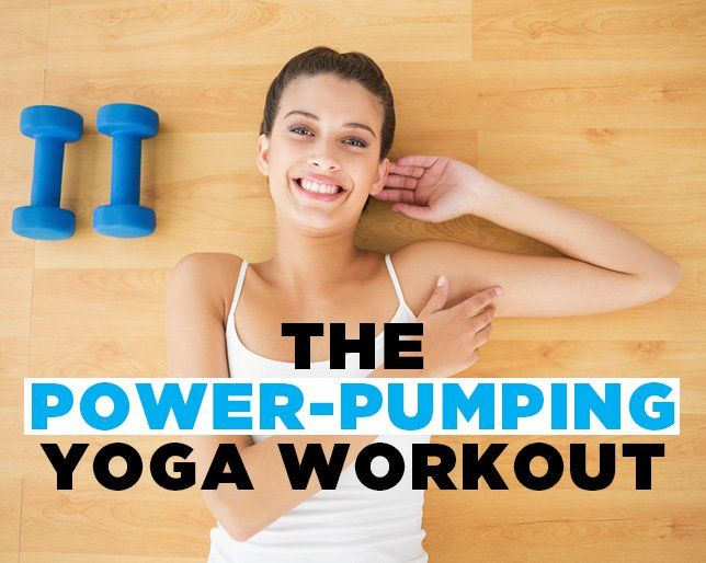 If you thought you couldn't combine yoga poses and strength-training exercises, you thought wrong.