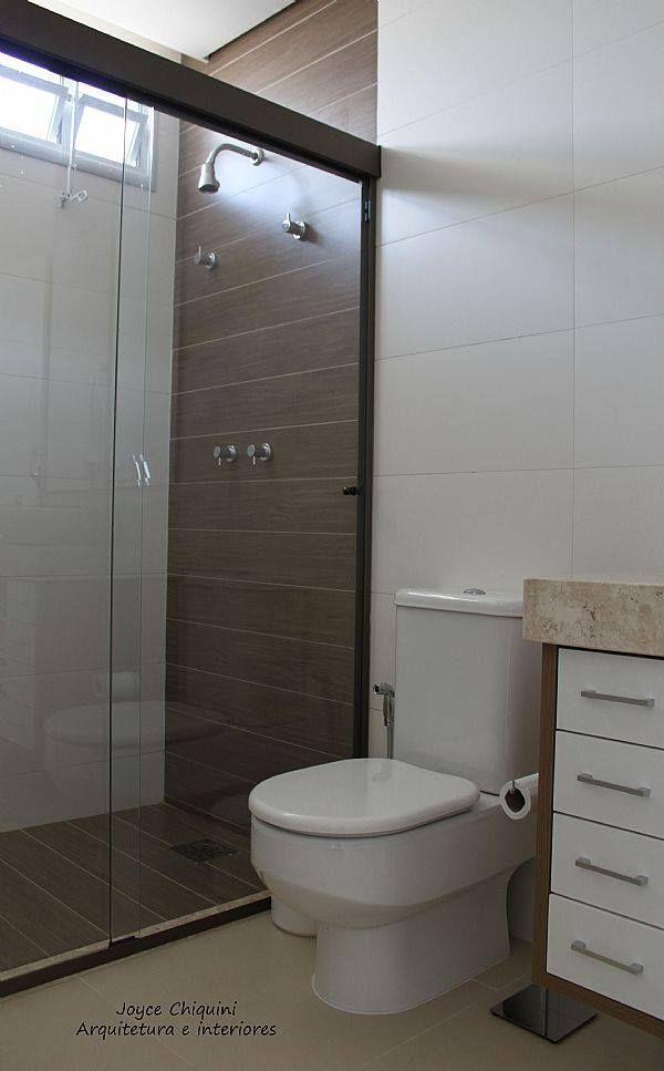 Porcelanato imitando Madeira  Ideias para a casa  Pinterest  Toilet, Bathr -> Banheiro Com Piso Que Imita Pastilha