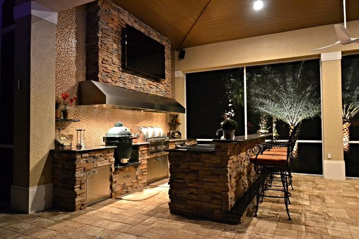 Next Patio Project Complete With The Bge Built In Gas Grill And Vent Hood Tv Goes Elsewhere For Outdoor Living Design Outdoor Kitchen Design Outdoor Kitchen