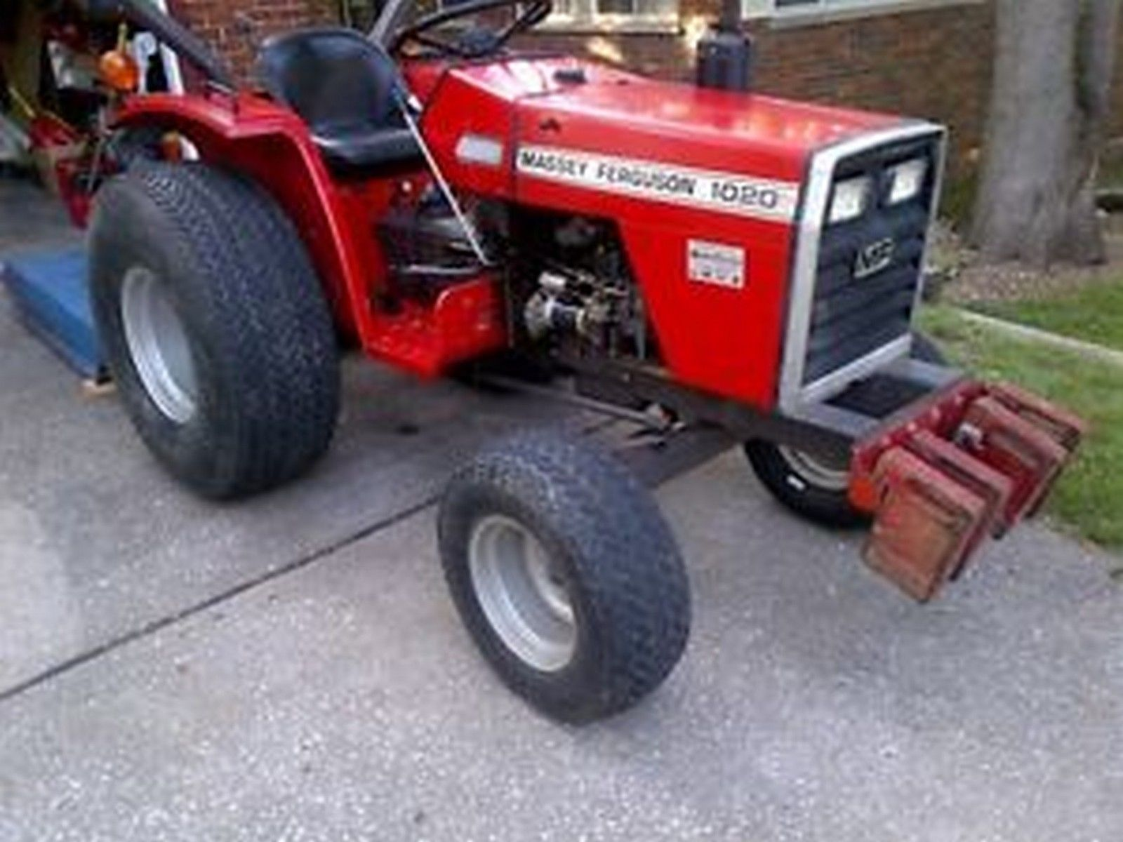 Massey Ferguson 1010 1020 Compact Tractor Workshop Manual Ebay