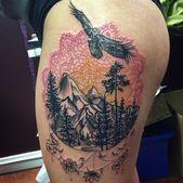 Photo of 70 Breathtaking Mountain Tattoos Design – Mens Craze #mountaintattoo mandala mou…