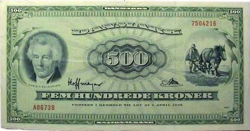 En Plovmand 500 Kroner Penge Barndom Barndomsminder