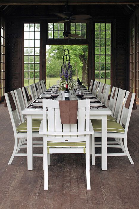 The Club Table And Chairs Are Available In Four Finishes Weathered French Linen Oyster Mahogany Find It At Tin Roof Spokane WA