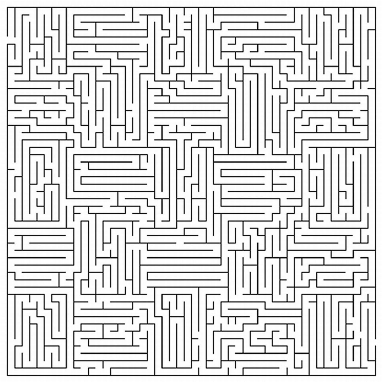 Printable Mazes For Adults Square