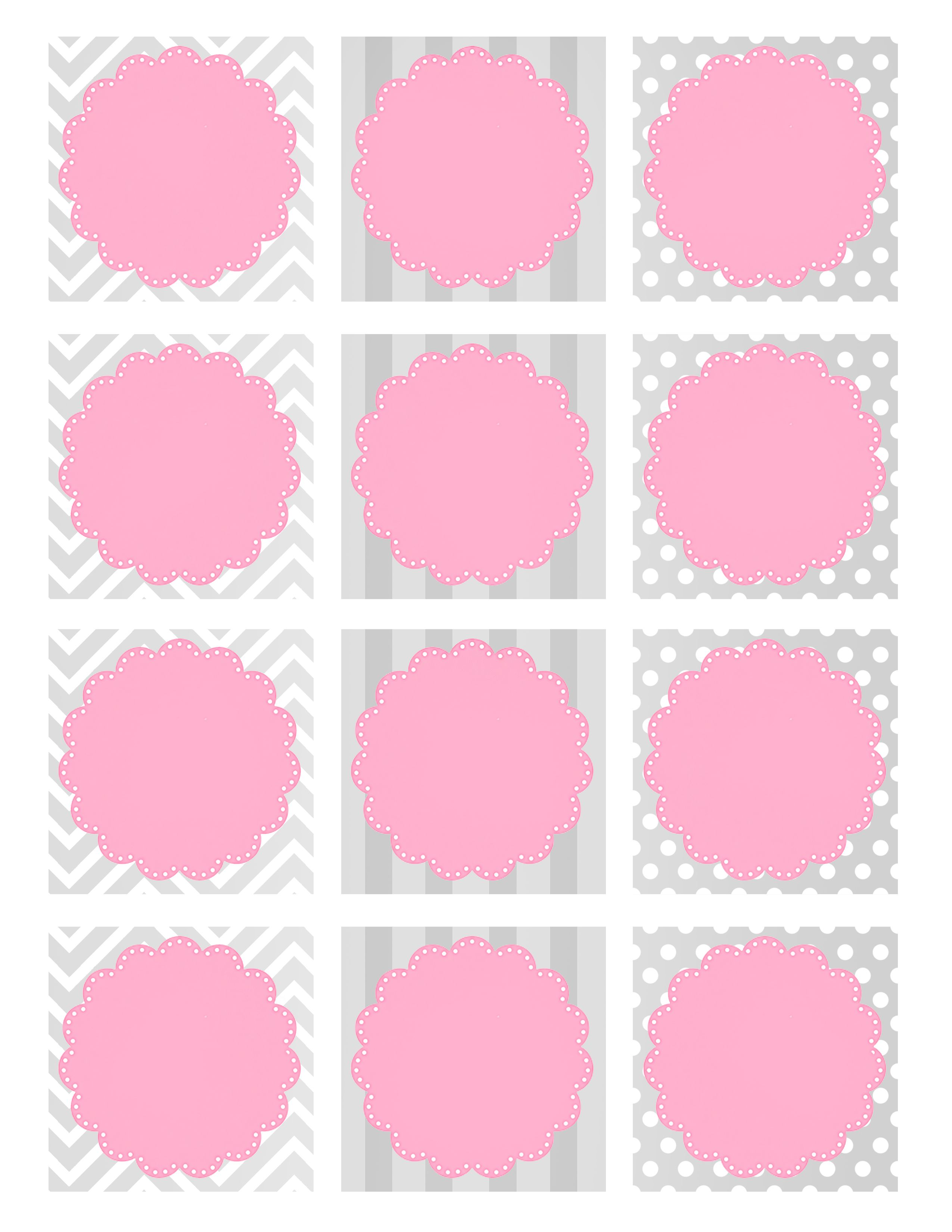 Baby Shower Favor Cards Part - 44: Girl Baby Shower Favor Tags