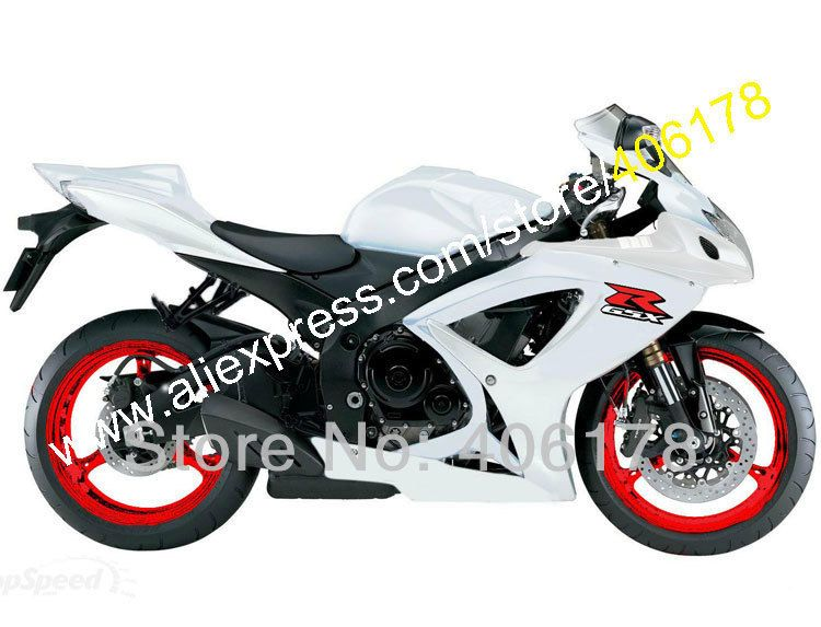 Hot Sales For Suzuki Gsx R 600 750 K6 06 07 Gsxr750 Gsxr600 2006 2007 All White Fairings Kits Price For Sale Injection Mol Suzuki Gsxr Suzuki Gsx R 600 Suzuki