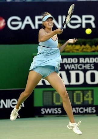 「tenista sharapova sirviendo en tenis」の画像検索結果