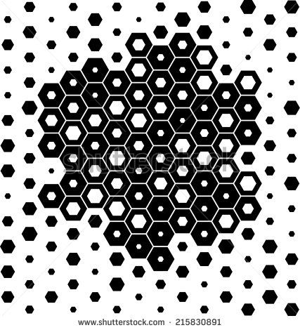 black hexagon pattern hexagons pattern hexagon tattoo
