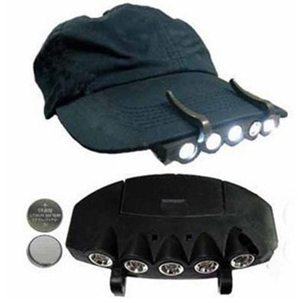 Flashlight Cap Hat Torch Head Light Lamp Outdoor Fishing Camping Hunting Clip-On