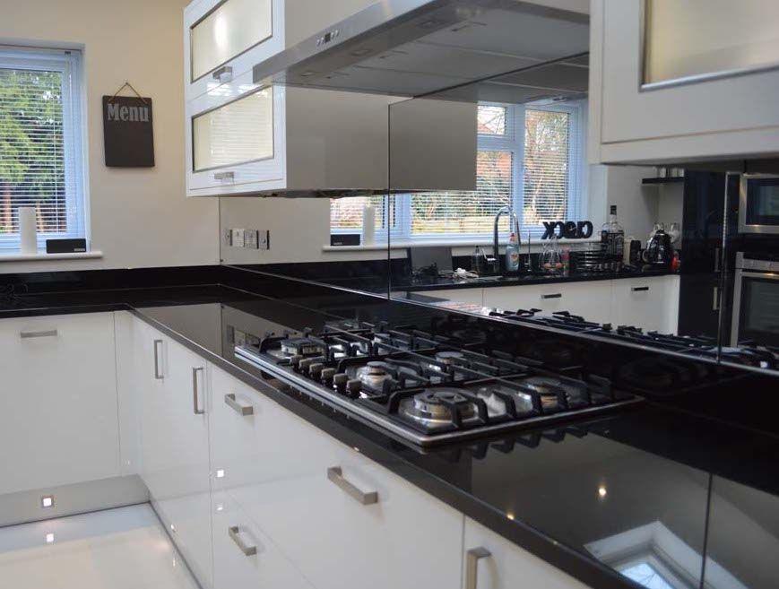 Toughened Mirror Splashbacks Kitchen Design Ideas Pinterest - wandpaneel küche glas
