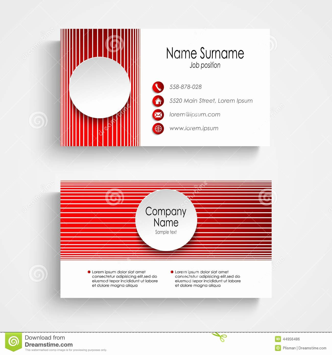 Round Business Cards Template Lovely Modern Red Round Business Card Template Stock Vector Round Business Cards Card Template Cards