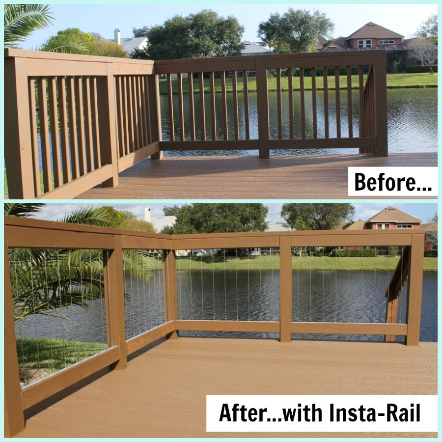 decks with vertical wire for railing | Home > INSTA-Rail > NEW ...