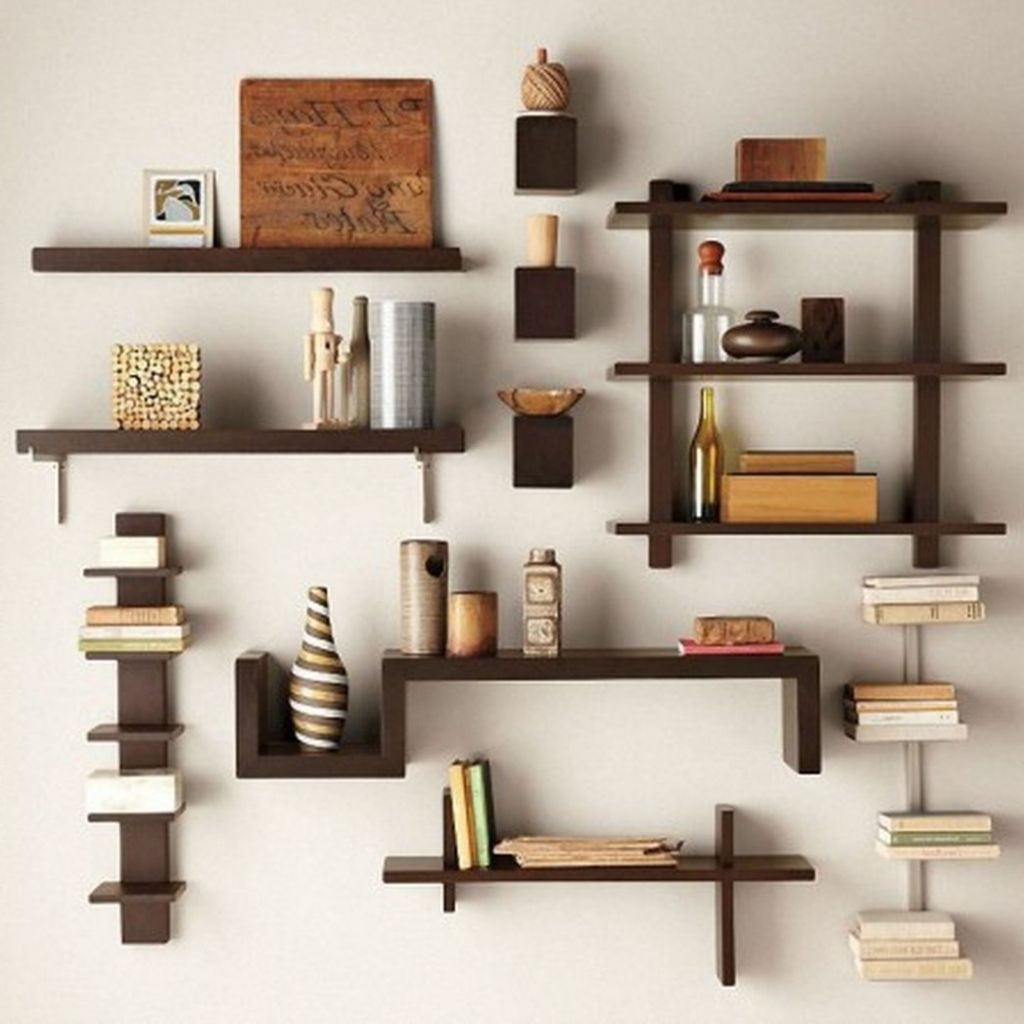 Awesome Diy Living Room Shelf Ideas Creative Wall Shelves Unique Decor