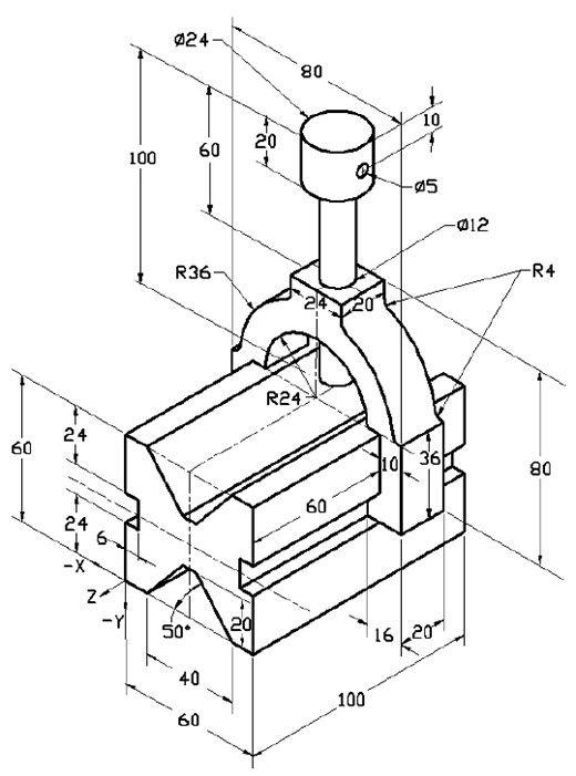 Pieza de enzablaje en solidworks piezas en programas de for Cad blueprints