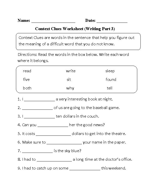 Englishlinx.com | Context Clues Worksheets | Teaching Reading ...