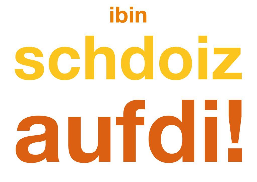 postkarte ibinschdoizaufdi bayern bayrische spr che. Black Bedroom Furniture Sets. Home Design Ideas