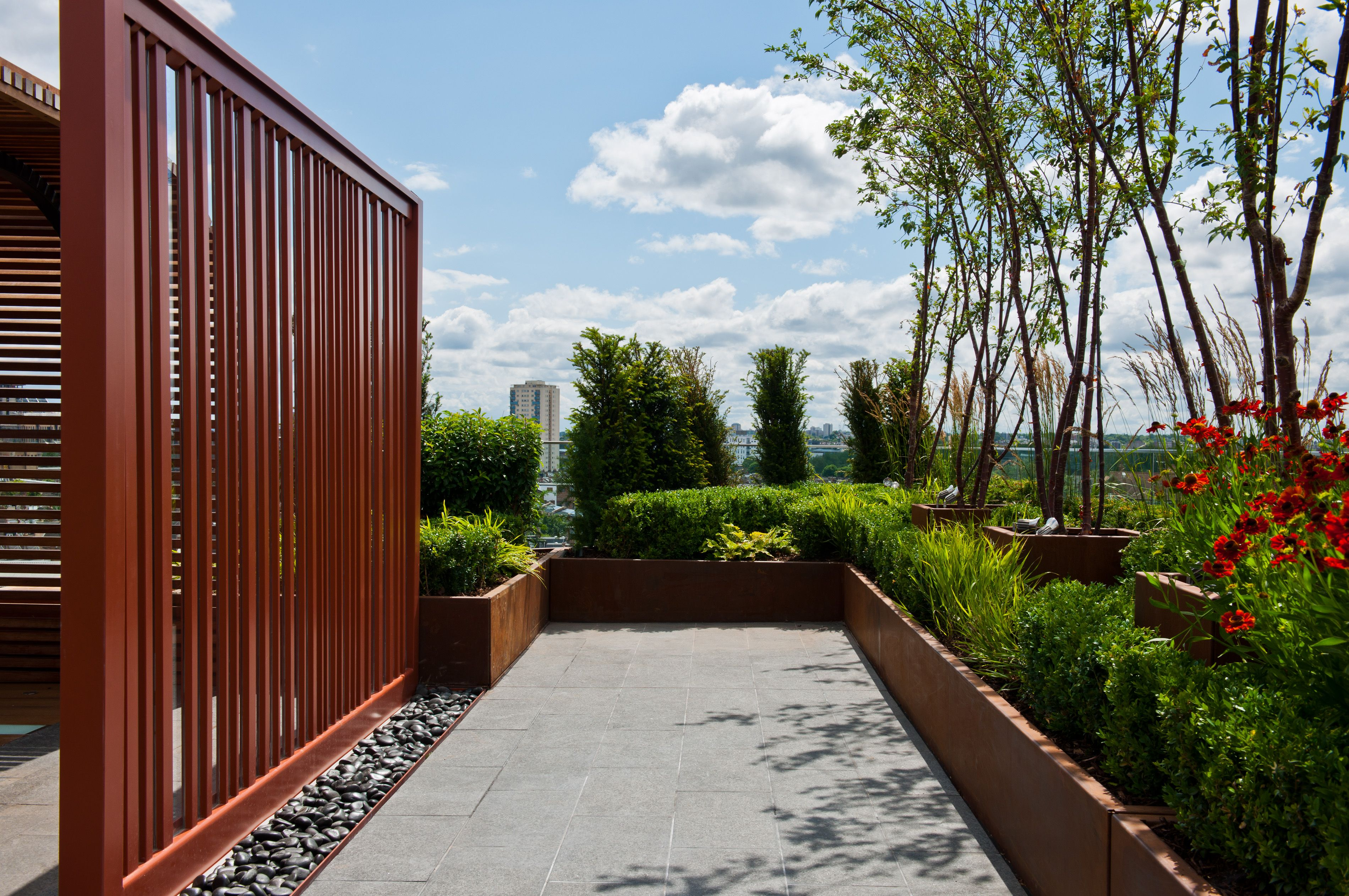 dockside house chelsea creek rooftop garden by aralia garden