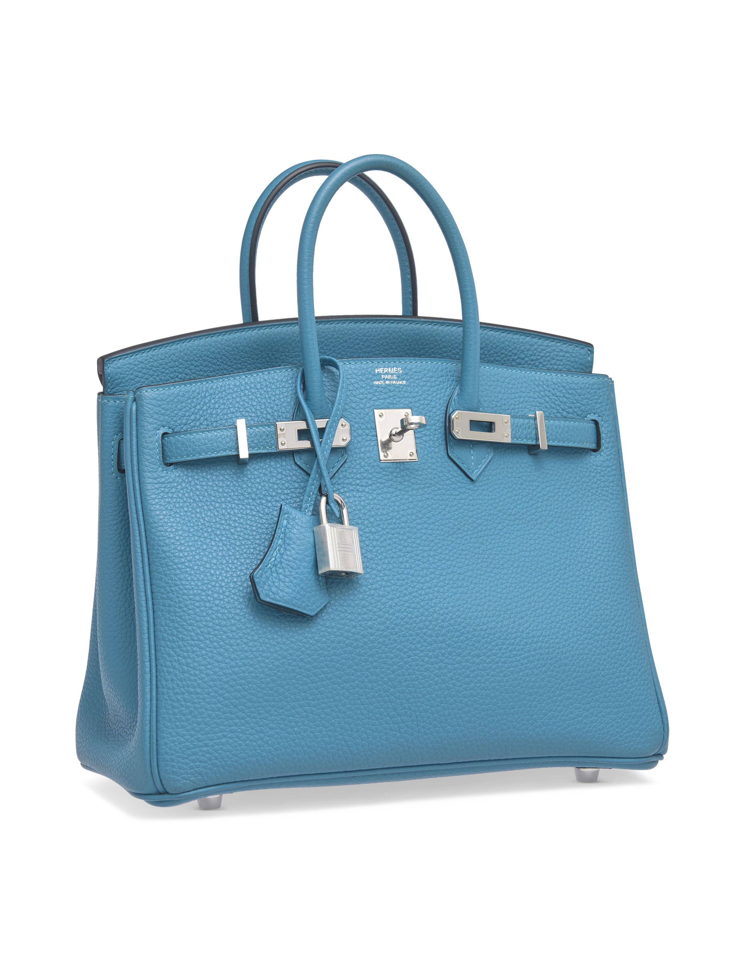 202ab85e2c A turquoise togo leather birkin 25 with palladium hardware