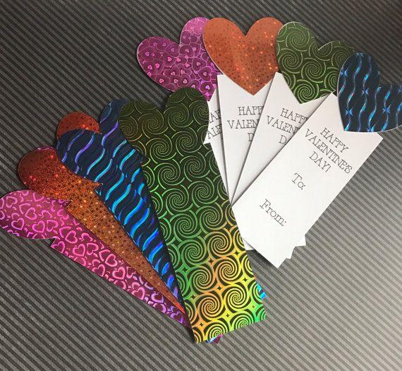 Kids Bookmark Valentine Card Set Holographic By Thedarkorchid