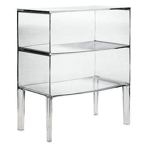 Buy Philippe Starck For Kartell Ghost Buster Commode, Crystal, Large Online  At Johnlewis.