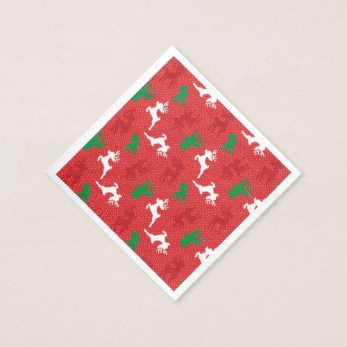 Christmas Reindeer Pattern Print Paper Napkin Christmas Party