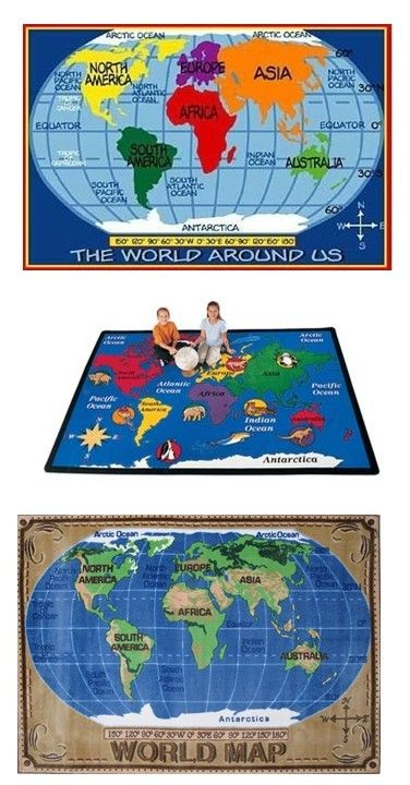 World map large rug knowledge education fun learning globe room world map large rug knowledge education fun learning globe room decor idea teen parent fun rugs gumiabroncs Gallery
