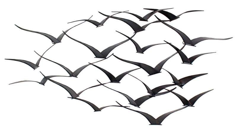 Aspire Home Accents 8605 Darla Metal Birds Wall Decor Brown Home Decor Wall Decor Metal Art