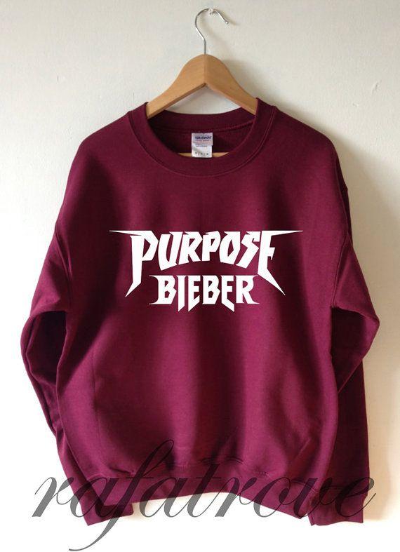 55a72c2e07cf Justin Bieber Sweatshirt Purpose Tour Sweatshirts by RafaTrove ...
