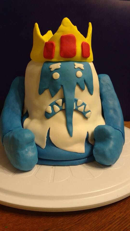 Ice King from Adventure Time Black Forest cake Rice Krispie arms