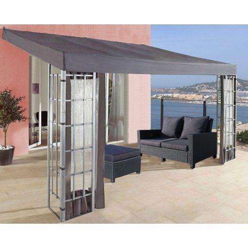 gazebo pergola canopy outdoor garden patio side wall set for