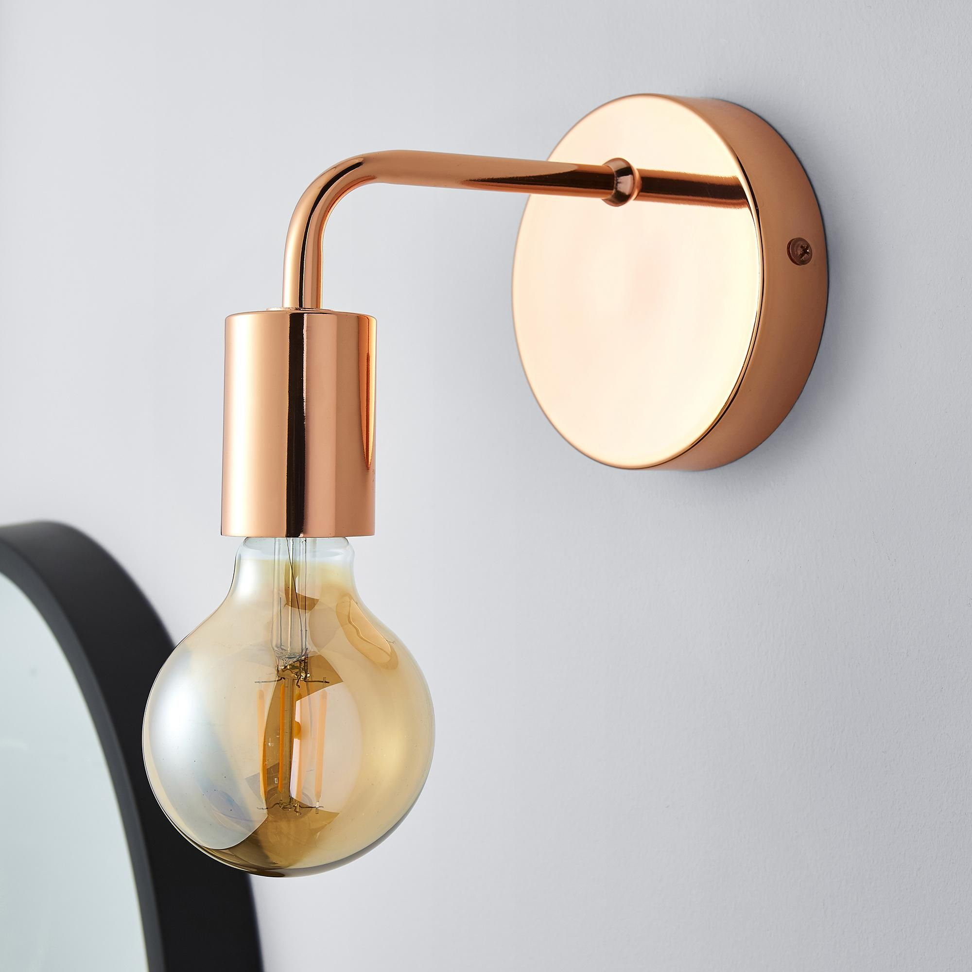 Adonis Copper Wall Light in 2020 | Copper wall light, Wall