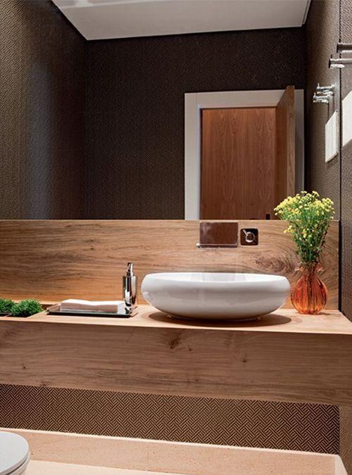 Mobile bagno top realizzato in legno massello di castagno, trattato ...