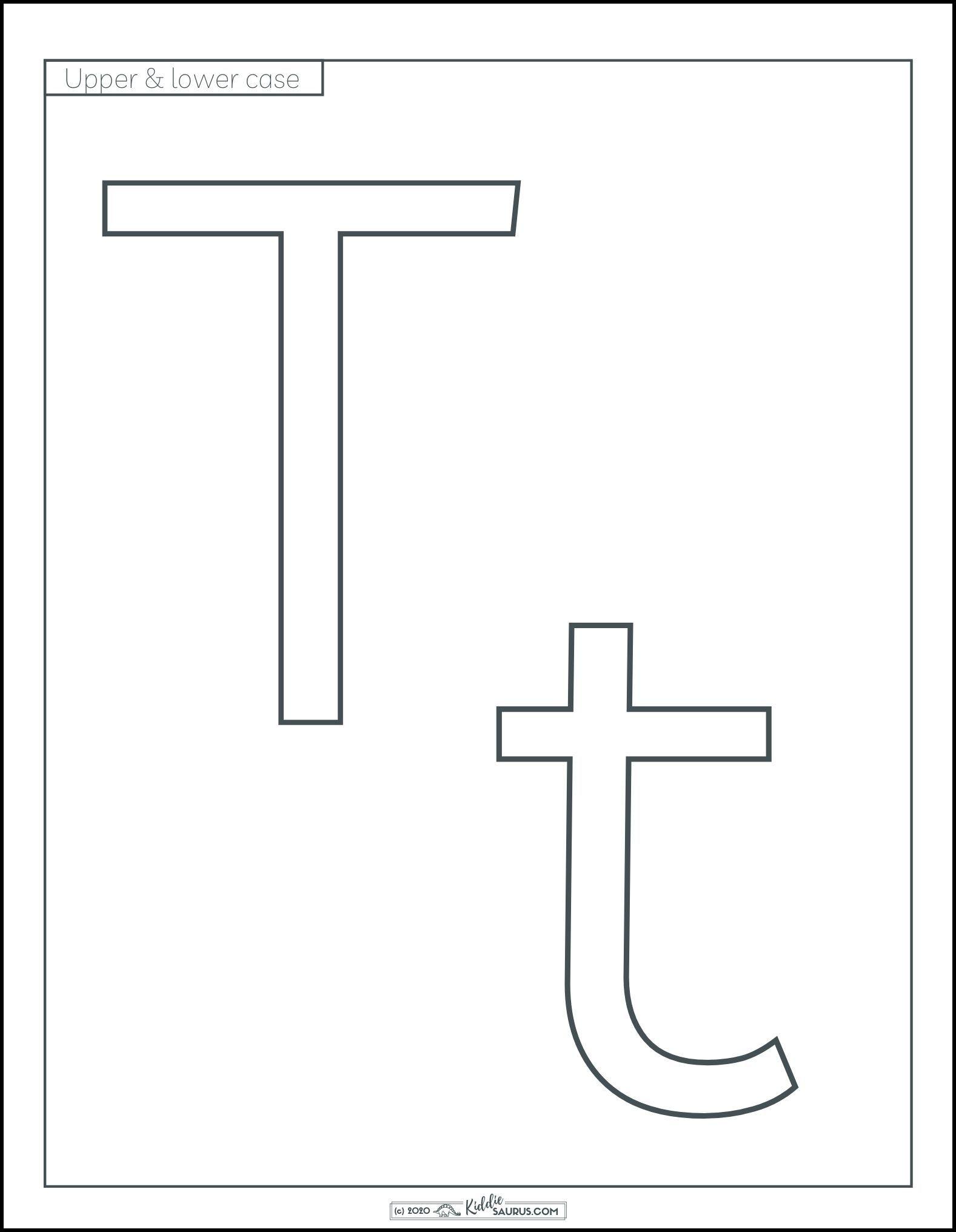 Letter T Printables For Preschool Amp Kindergarten In