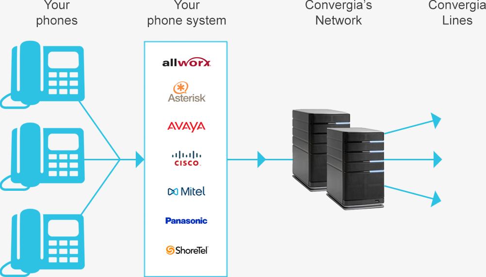 Our SIP Trunking supports the most popular IP PBXs; Avaya