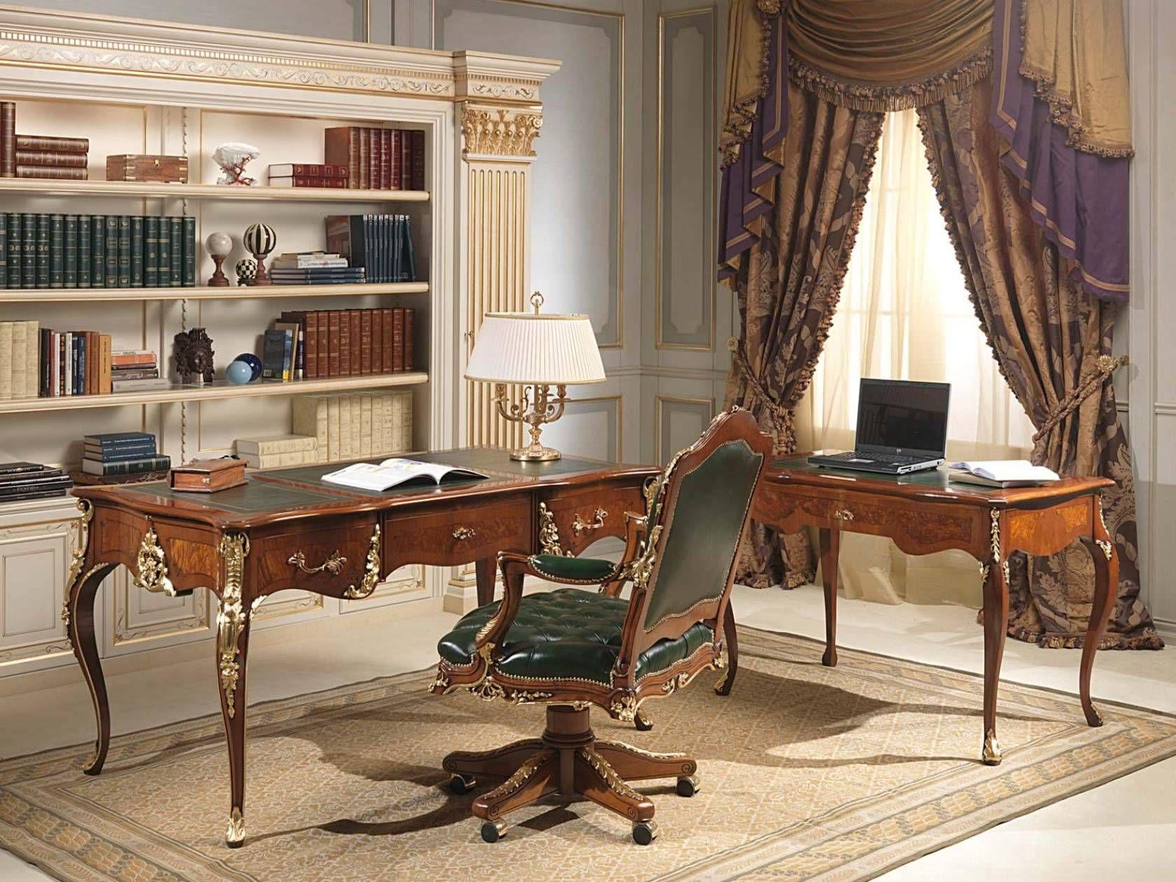 Bureau de style Louis XV / en bois - VIMERCATI MEDA LUXURY CLASSIC ...