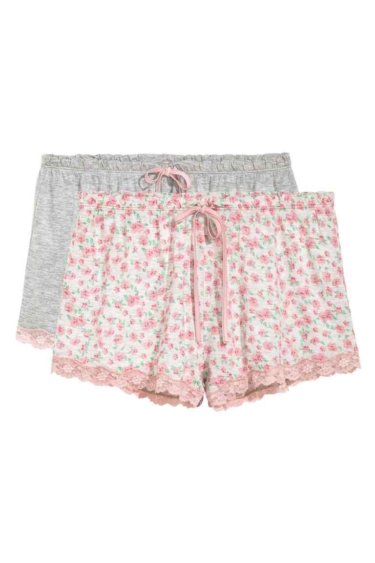 37bf11175fd32 Lot de 2 shorts de pyjama - Rose fleuri - FEMME