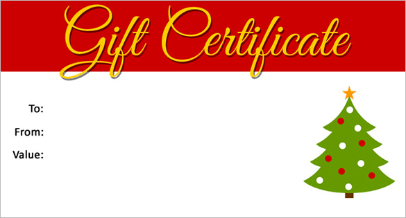 Free Christmas Gift Certificate Templates 9 - Best ...