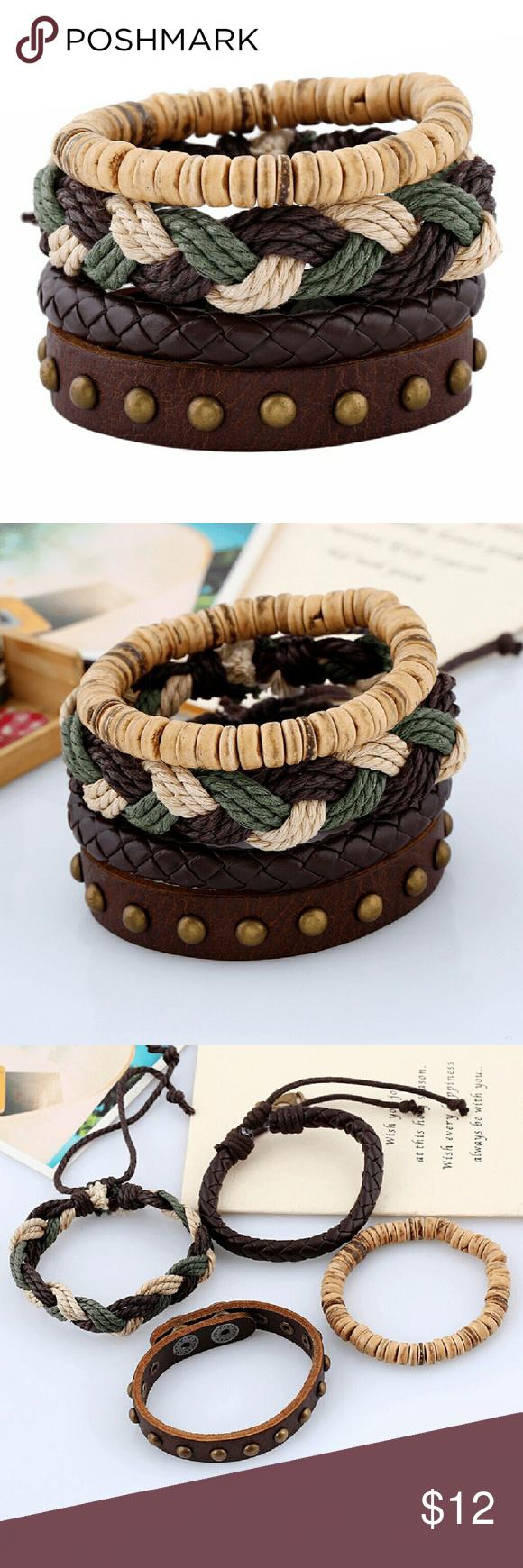 Fashion jewelry bracelets vintage leather leather bracelets and