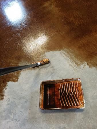 Staining and Finishing Concrete Floors   Ana White ...