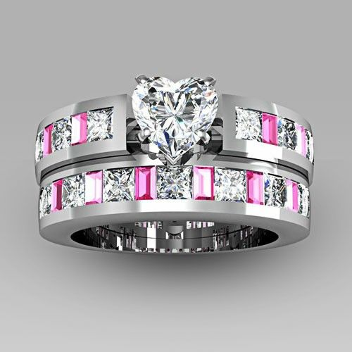 pink wedding rings wedding design ideas