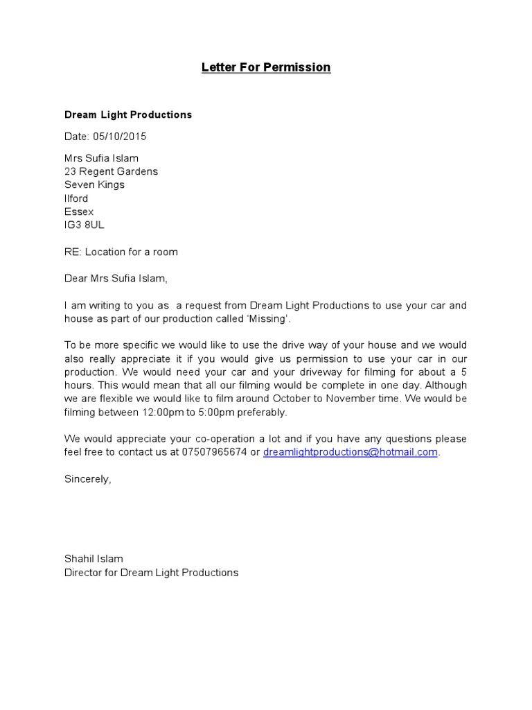Letter For Permission  Joke