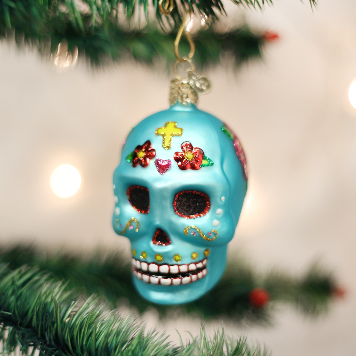Day Of The Dead Ornament Old world christmas, Glass