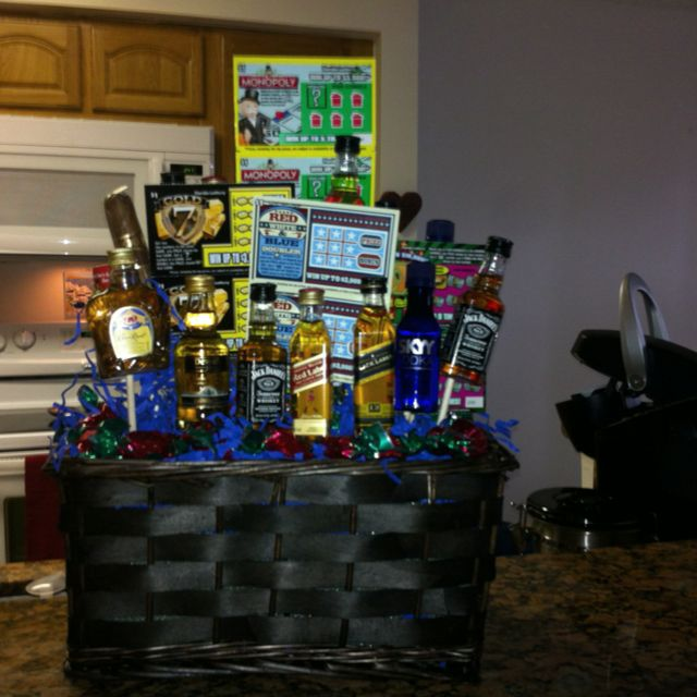 50th Birthday Gift Basket For Men: Man Birthday Gift Basket, Made This For The Hubby