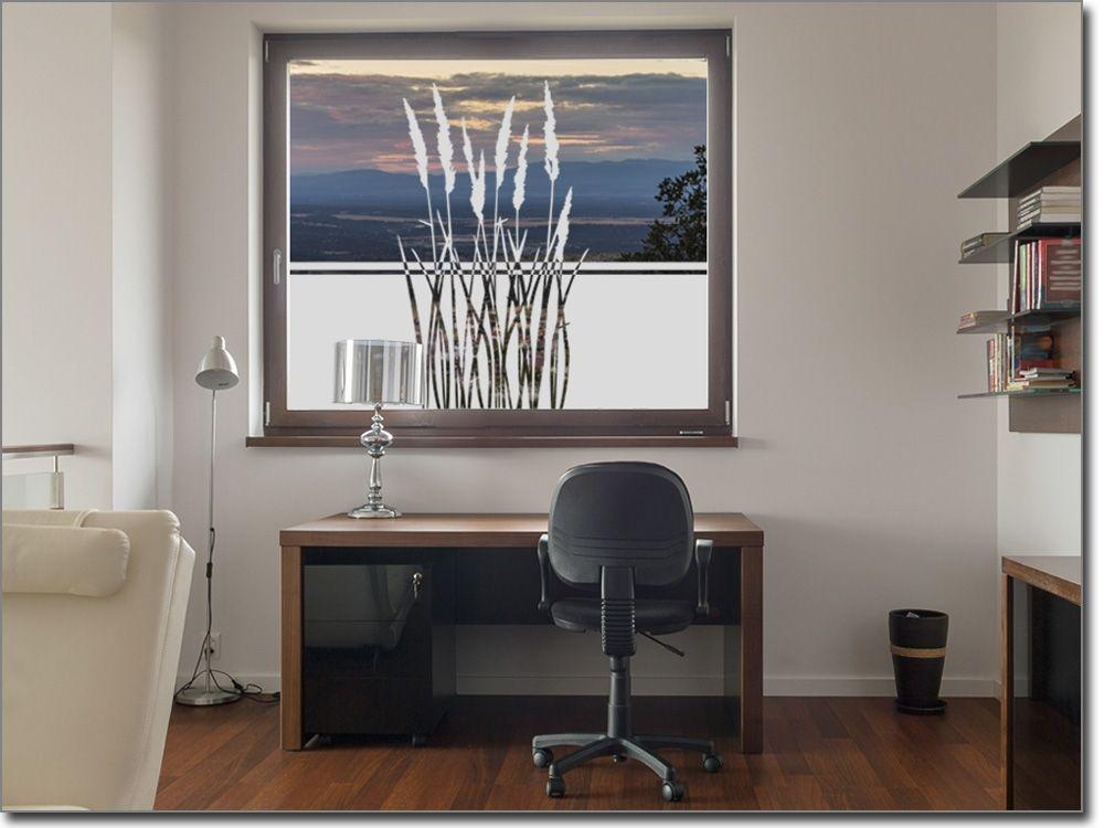 Glasdekorfolie Sommergras Sichtschutzfolie Pflanzen Pinterest - folie für badezimmerfenster