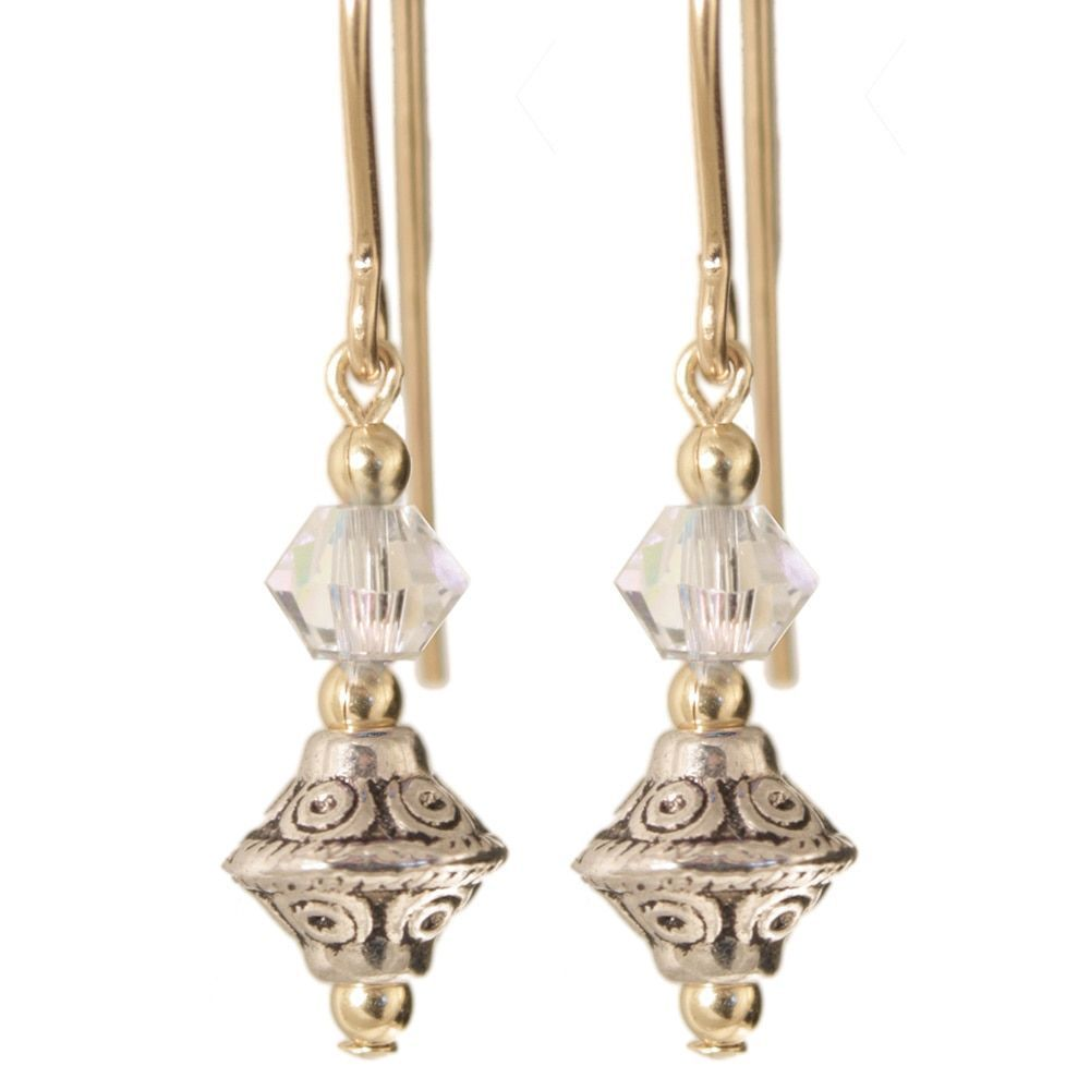 Ardent Designs Gold Fill 14k 'Tehya' Crystal Earrings