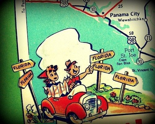Map Of Panama City Beach Florida.Retro Panama City Beach Map Retro Beach Art Vintage Florida Map
