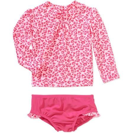 c7618cdd9860c Child of Mine by Carters Baby Girls' 2 Piece Rash Guard Swim Set, Online  Exclusive - Walmart.com