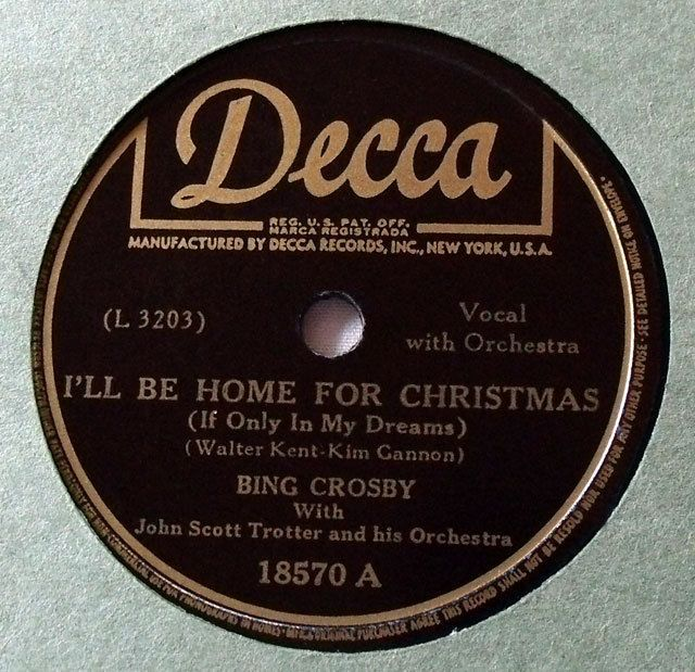 I39;ll be home for Christmas You can coun by Bing Crosby